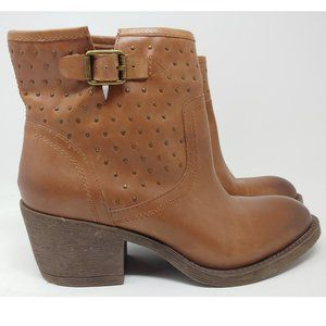 NWOT Lucky Brand Leather Ankle Boots Size 8.5